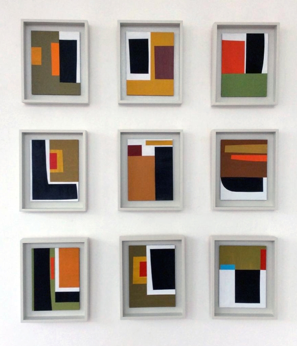 JT - Nine Collages 26.5X21.5cm each Acrylic & card on board