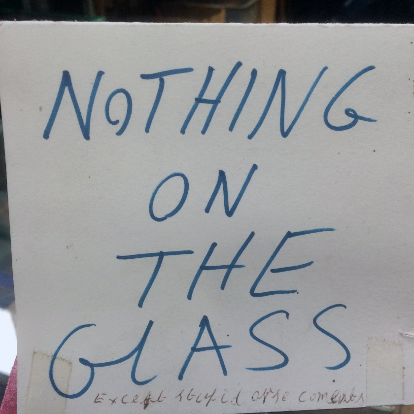 014 - Nothing on the glass