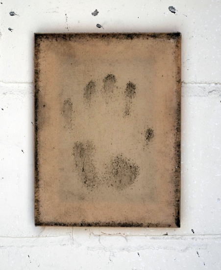 Murray - Untitled (2018) handprint on canvas