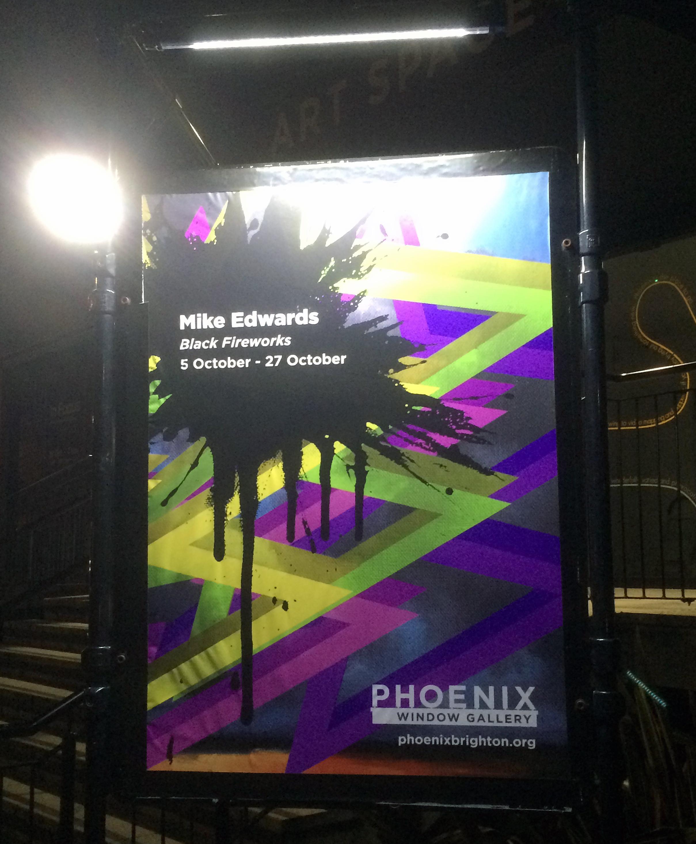 Poster at night