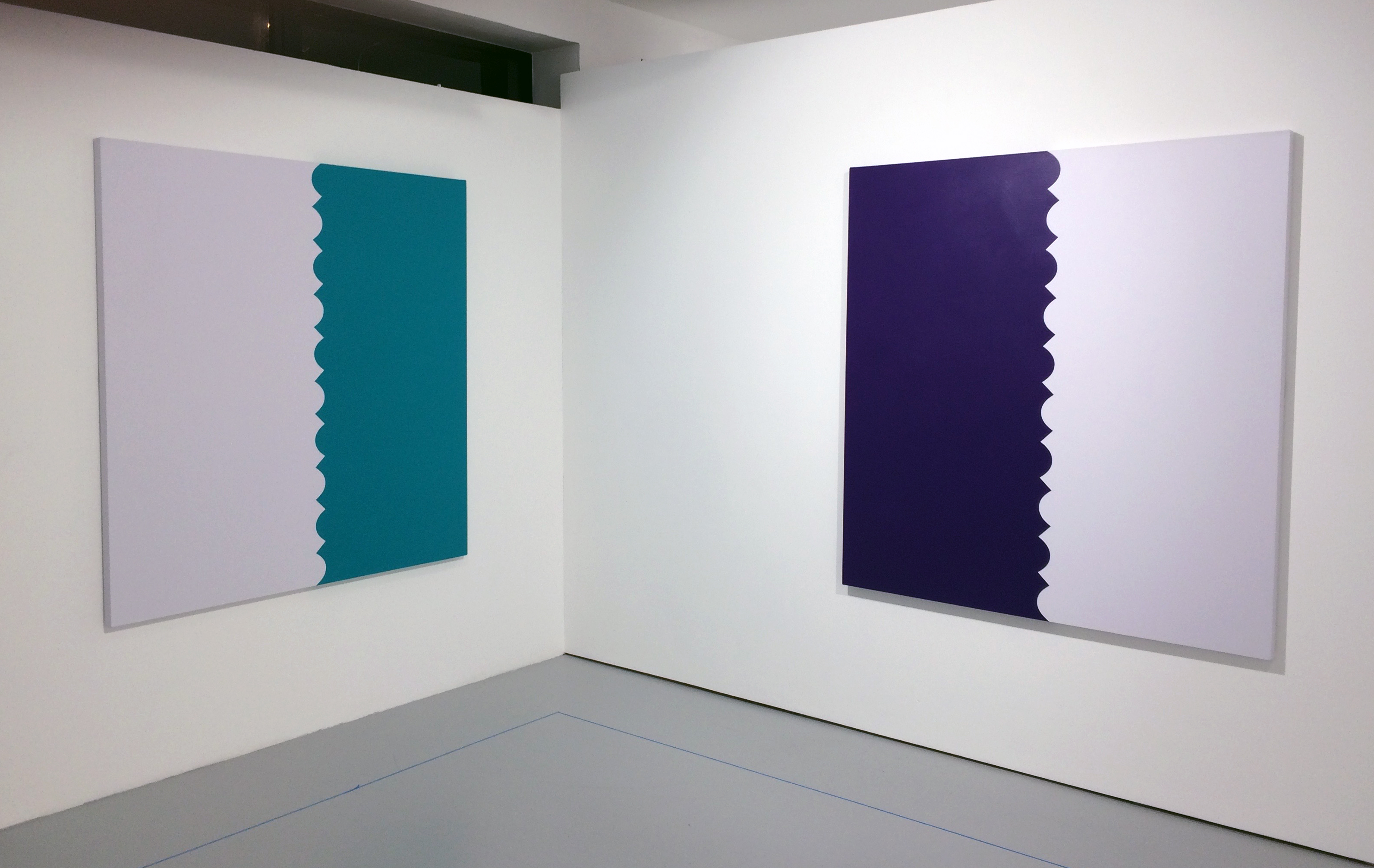 004 - HPX2pt1 - Tess Jaray - One Hundred Years [Green] & [Purple].jpg